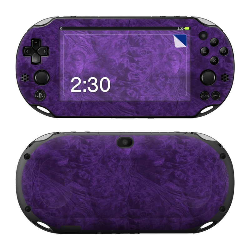 PlayStation Vita 2000 Skin design of Violet, Purple, Lilac, Pattern, Magenta, Textile, Wallpaper with black, blue colors