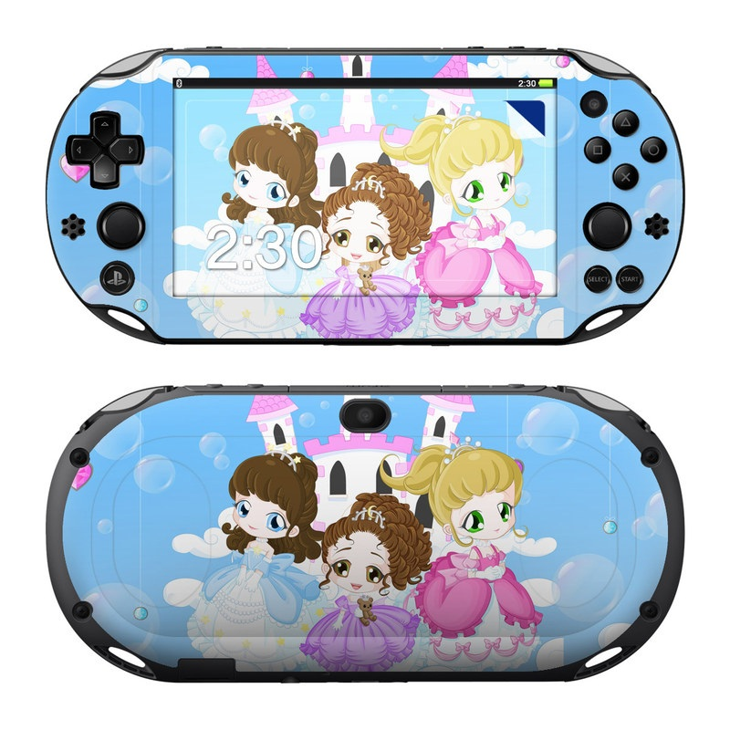 PlayStation Vita 2000 Skin design of Cartoon, Illustration, Clip art, Graphics, Art, Fictional character with purple, white, blue, gray, black colors