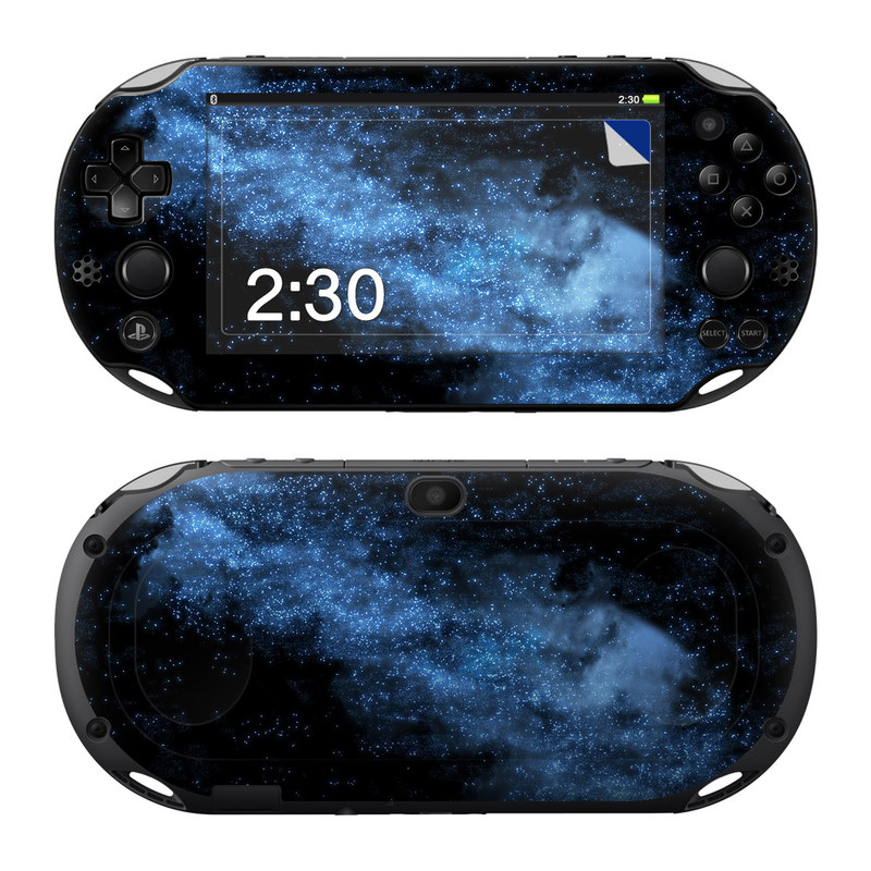 PlayStation Vita 2000 Skin design of Sky, Atmosphere, Black, Blue, Outer space, Atmospheric phenomenon, Astronomical object, Darkness, Universe, Space with black, blue colors