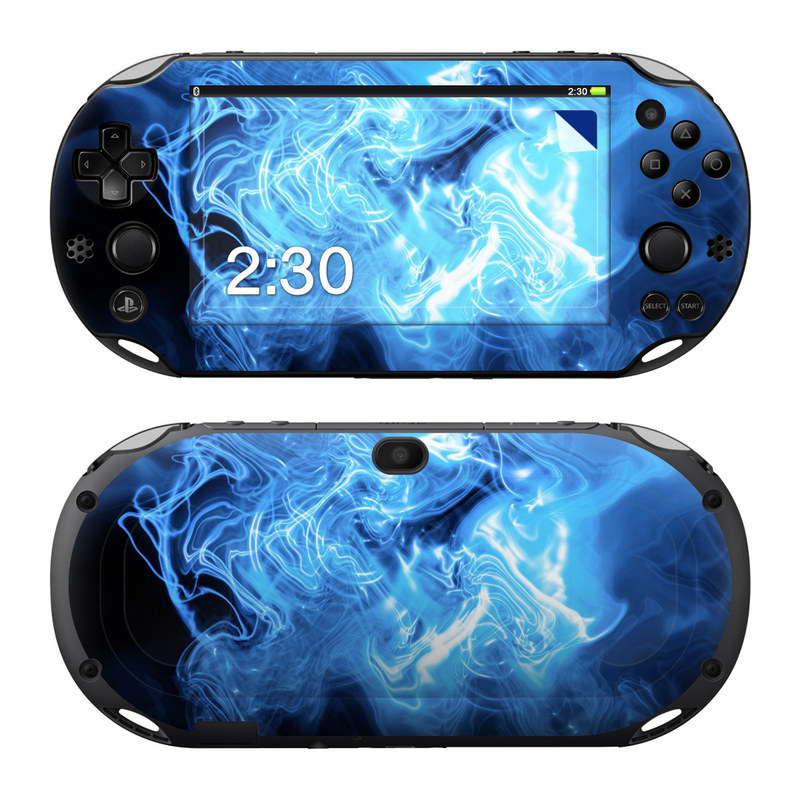 Blue Quantum Waves PlayStation Vita 2000 Skin