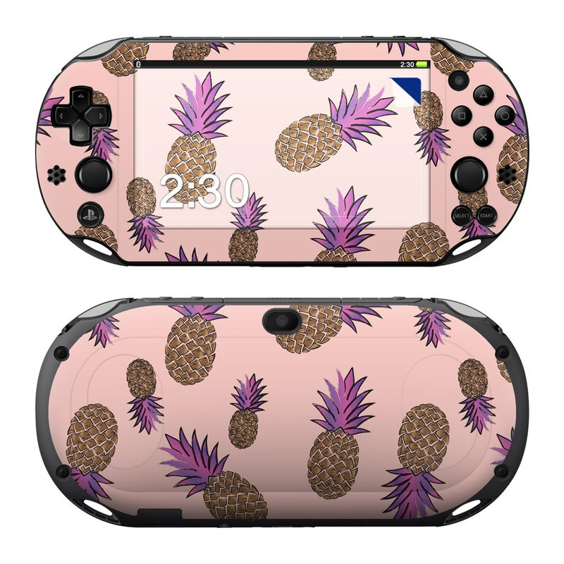 PlayStation Vita 2000 Skin design of Plant, Organism, Flower, Pattern, Flowering plant, globe thistle, Pine family with pink, brown, purple colors