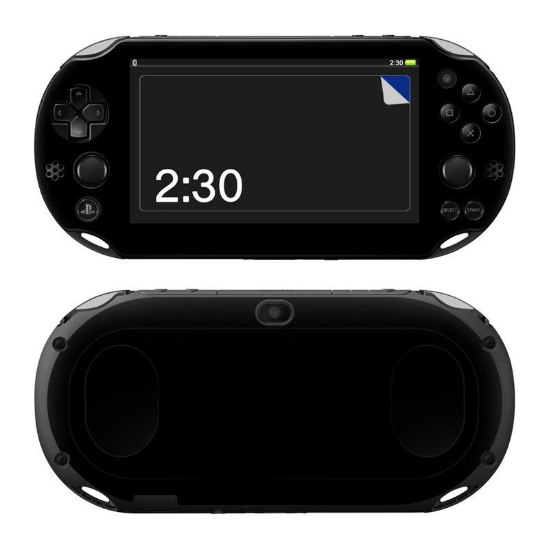 Solid State Black PlayStation Vita 2000 Skin