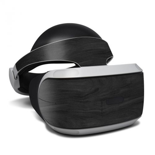 Black Woodgrain PlayStation VR Skin