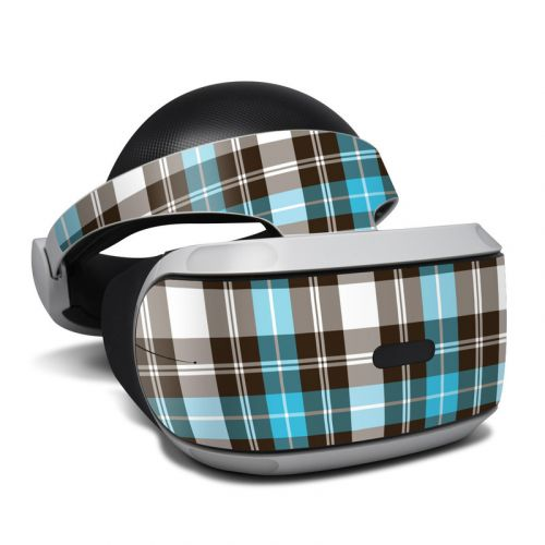 Turquoise Plaid PlayStation VR Skin