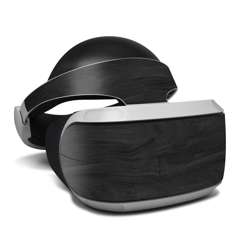 Black Woodgrain PlayStation VR Skin
