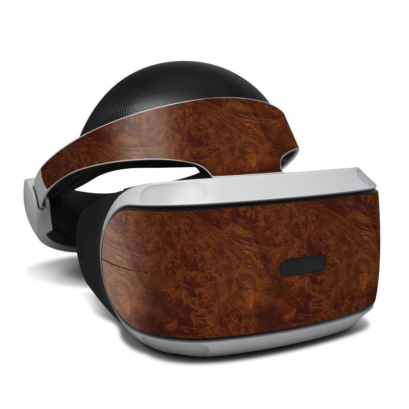 Dark Burlwood PlayStation VR Skin