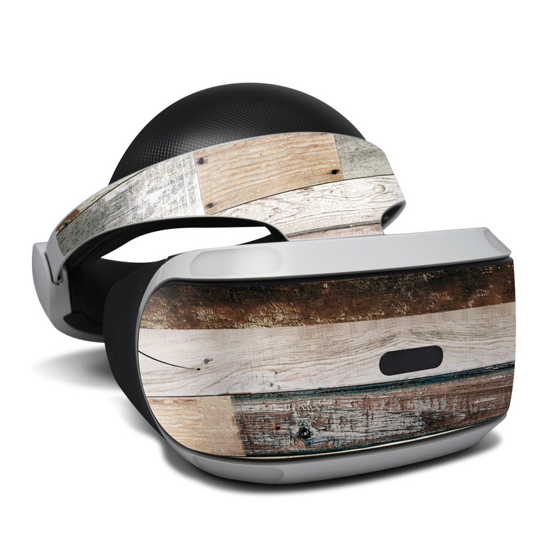 Eclectic Wood PlayStation VR Skin