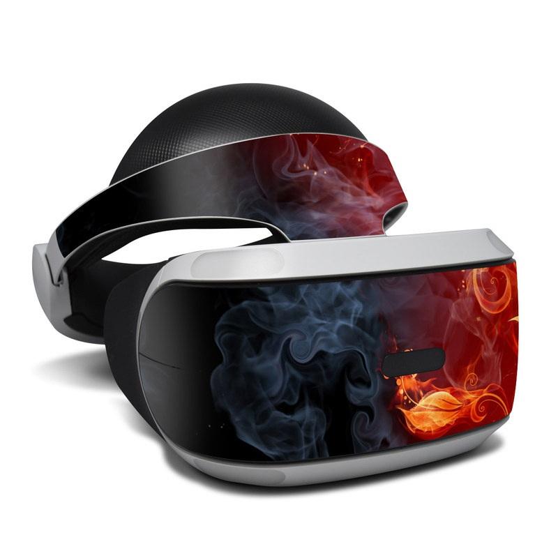 PlayStation VR Skin design of Flame, Fire, Heat, Red, Orange, Fractal art, Graphic design, Geological phenomenon, Design, Organism with black, red, orange colors