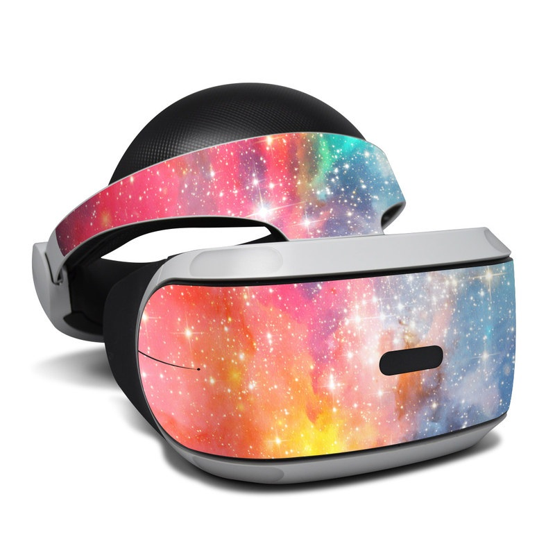 PlayStation VR Skin design of Nebula, Sky, Astronomical object, Outer space, Atmosphere, Universe, Space, Galaxy, Celestial event, Star with white, black, red, orange, yellow, blue colors