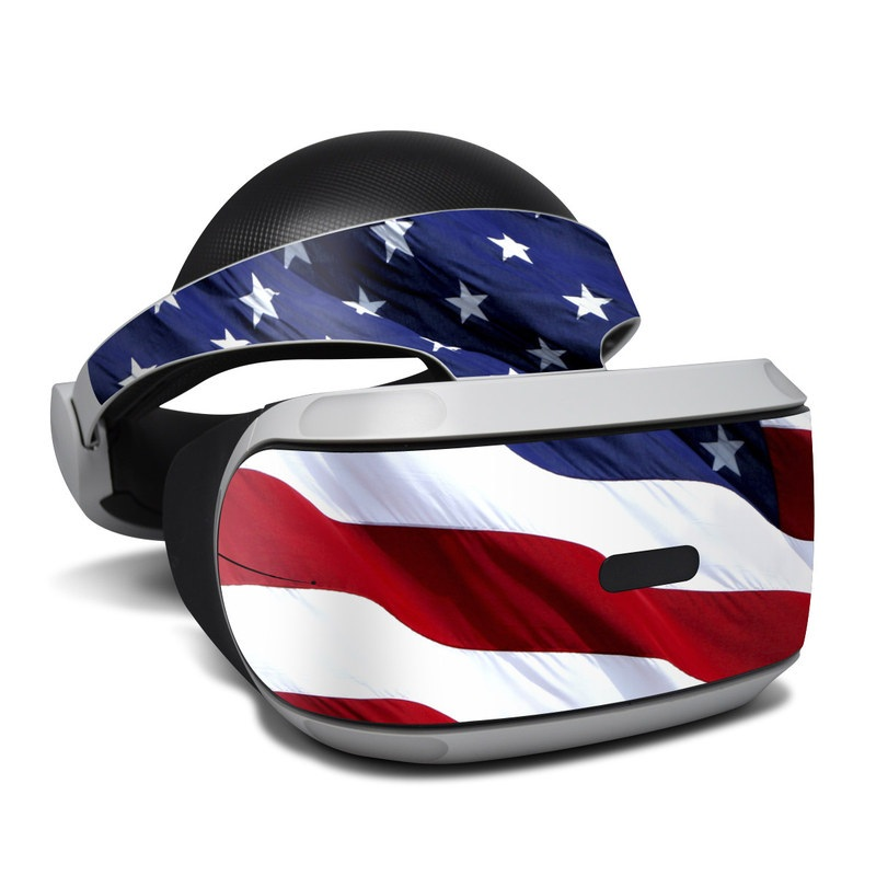 PlayStation VR Skin design of Flag, Flag of the united states, Flag Day (USA), Veterans day, Memorial day, Holiday, Independence day, Event with red, blue, white colors