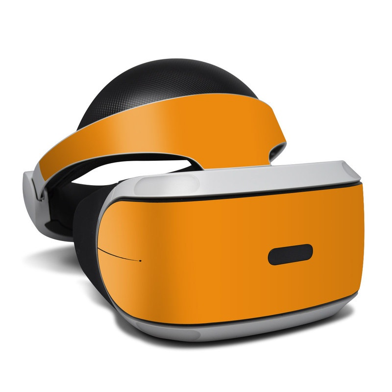 PlayStation VR Skin design of Orange, Yellow, Brown, Text, Amber, Font, Peach with orange colors