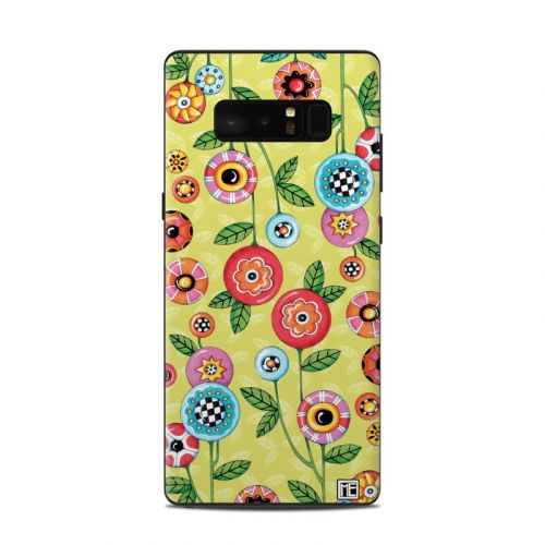 Button Flowers Samsung Galaxy Note 8 Skin