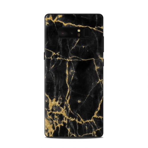 Black Gold Marble Samsung Galaxy Note 8 Skin