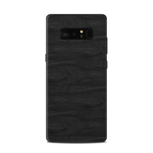 Black Woodgrain Samsung Galaxy Note 8 Skin