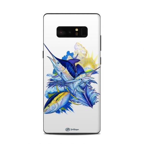 Blue White and Yellow Samsung Galaxy Note 8 Skin
