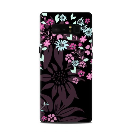 Dark Flowers Samsung Galaxy Note 8 Skin