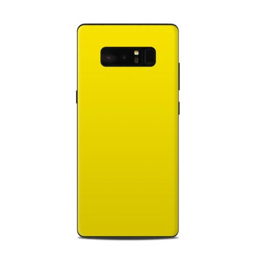 Solid State Yellow Samsung Galaxy Note 8 Skin