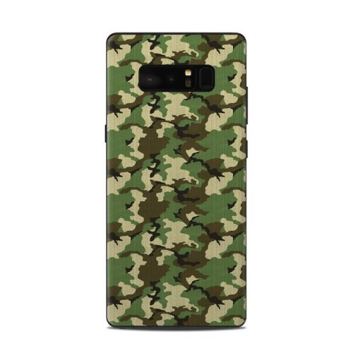 Woodland Camo Samsung Galaxy Note 8 Skin
