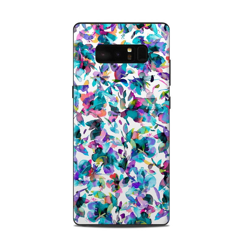 Samsung Galaxy Note 8 Skin design of Pattern, Design, Textile with white, blue, red, purple, pink, orange, yellow colors