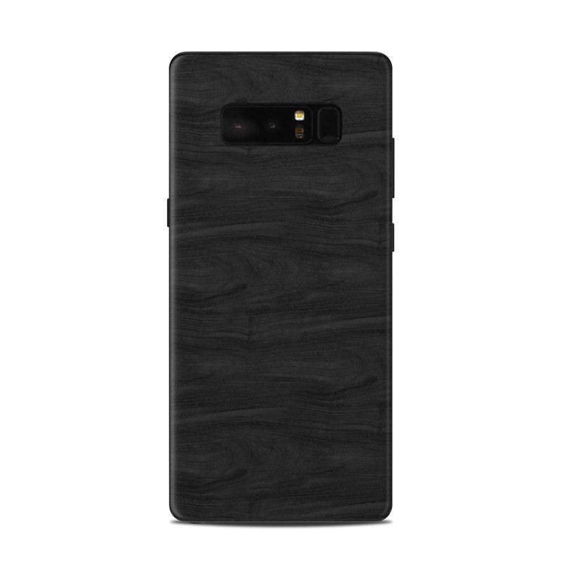 Samsung Galaxy Note 8 Skin design of Black, Brown, Wood, Grey, Flooring, Floor, Laminate flooring, Wood flooring with black colors