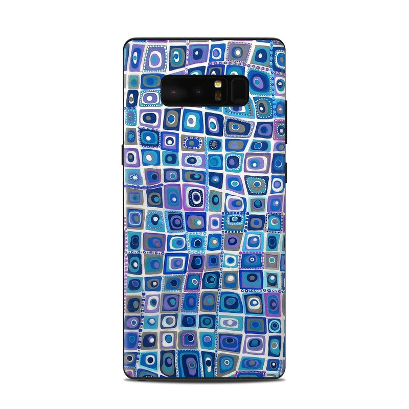 Samsung Galaxy Note 8 Skin design of Pattern, Design, Electric blue with blue, purple, white colors