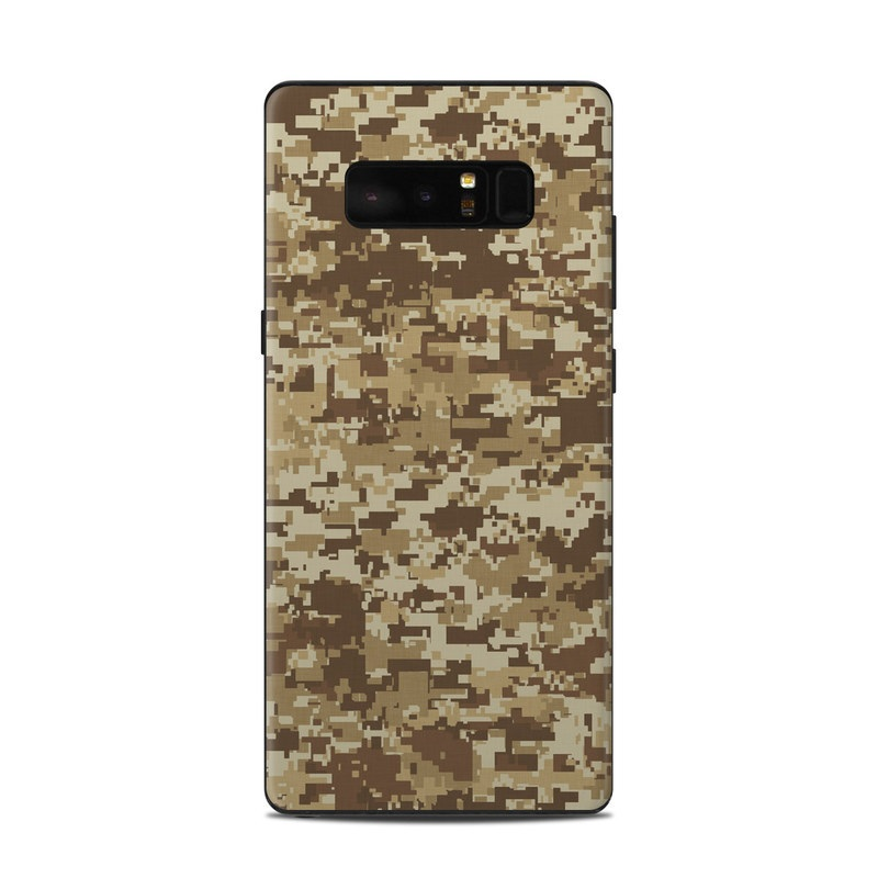 Samsung Galaxy Note 8 Skin design of Military camouflage, Brown, Pattern, Camouflage, Wall, Beige, Design, Textile, Uniform, Flooring with brown colors