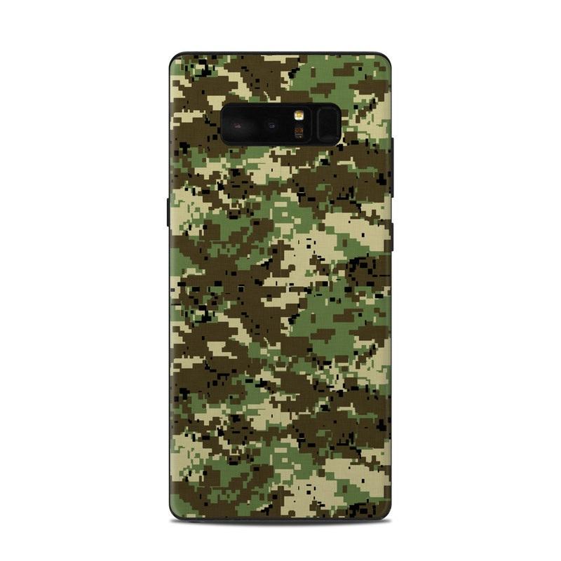 Digital Woodland Camo Samsung Galaxy Note 8 Skin