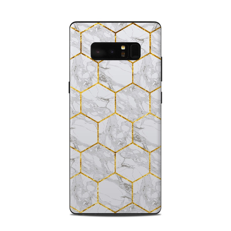 Samsung Galaxy Note 8 Skin design of Pattern, Tile flooring, Line, Tile, Design, Flooring, Floor with white, black, brown colors