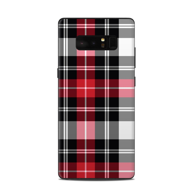 Red Plaid Samsung Galaxy Note 8 Skin