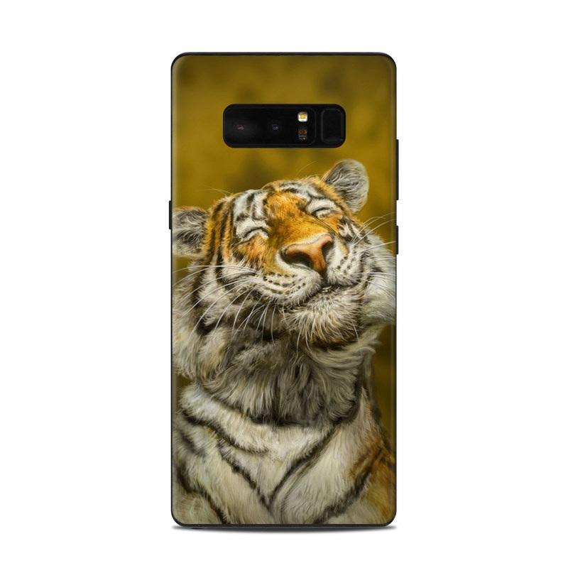 Samsung Galaxy Note 8 Skin design of Tiger, Vertebrate, Bengal tiger, Mammal, Wildlife, Siberian tiger, Terrestrial animal, Felidae, Snout, Whiskers with black, white, orange, yellow colors
