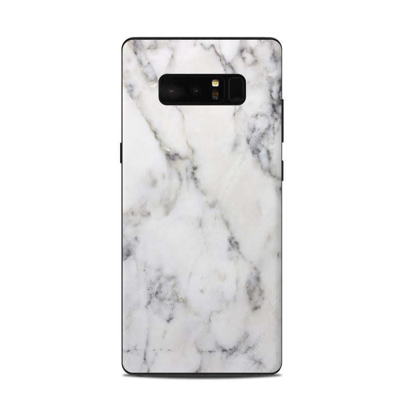 White Marble Samsung Galaxy Note 8 Skin
