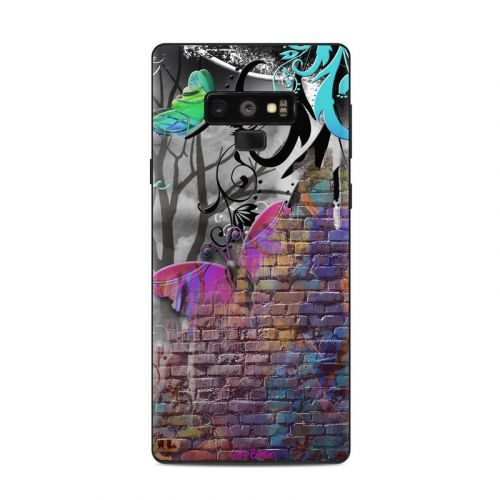 Butterfly Wall Samsung Galaxy Note 9 Skin