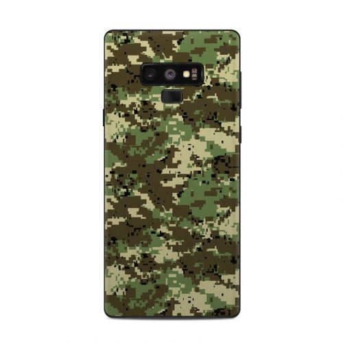 Digital Woodland Camo Samsung Galaxy Note 9 Skin