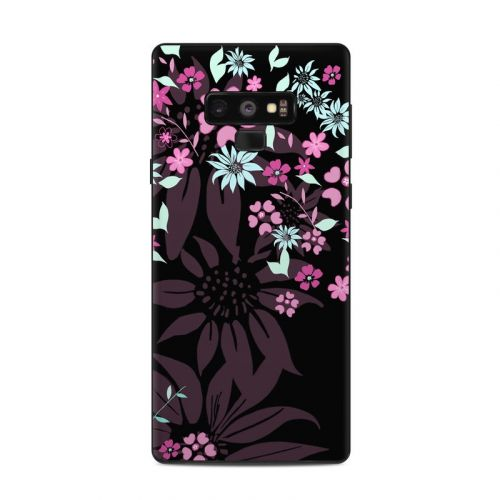 Dark Flowers Samsung Galaxy Note 9 Skin
