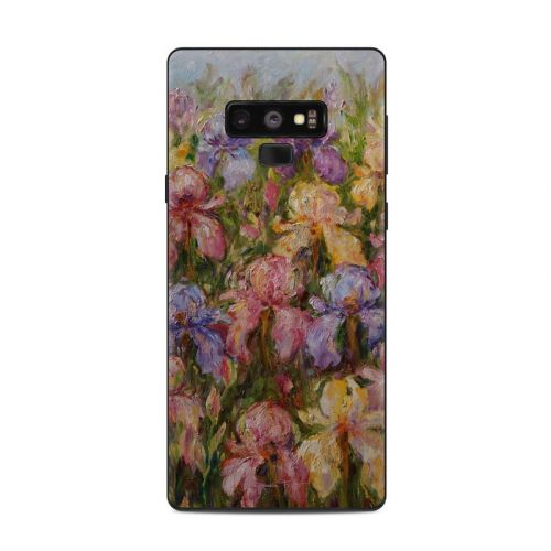 Field Of Irises Samsung Galaxy Note 9 Skin