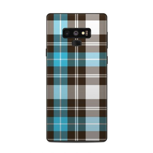 Turquoise Plaid Samsung Galaxy Note 9 Skin