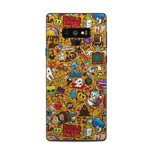 Psychedelic Samsung Galaxy Note 9 Skin