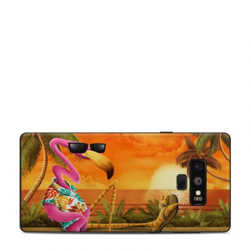 Sunset Flamingo Samsung Galaxy Note 9 Skin