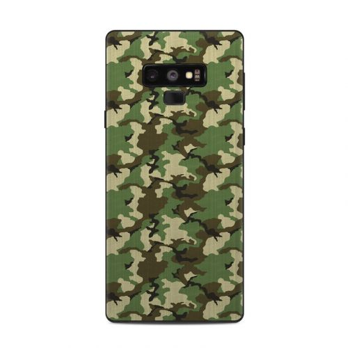 Woodland Camo Samsung Galaxy Note 9 Skin