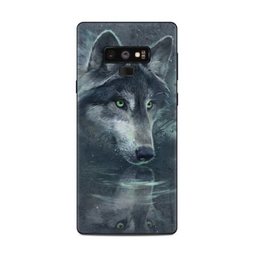 Wolf Reflection Samsung Galaxy Note 9 Skin