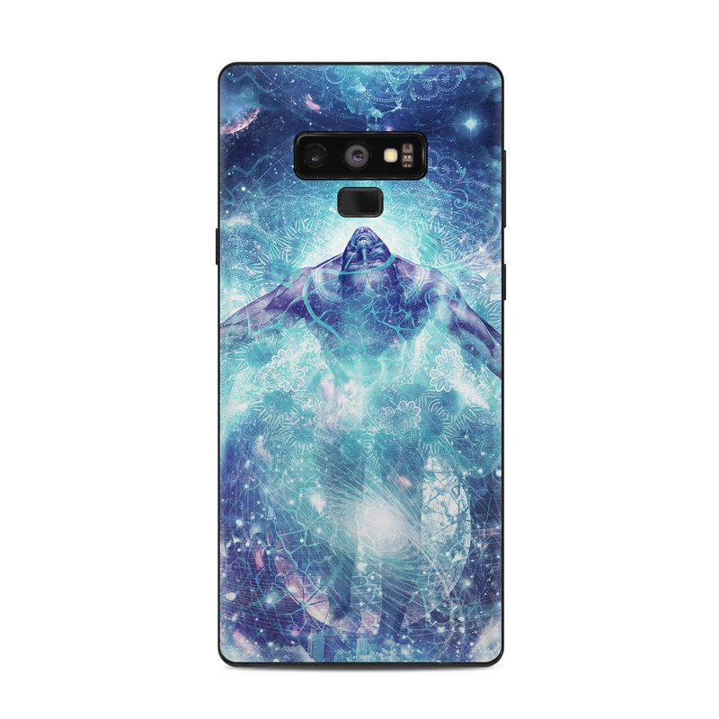Samsung Galaxy Note 9 Skin design of Outer space, Astronomical object, Universe, Space, Sky, Atmosphere, Fractal art, Nebula, Science, Star with blue, black, red, yellow, white colors