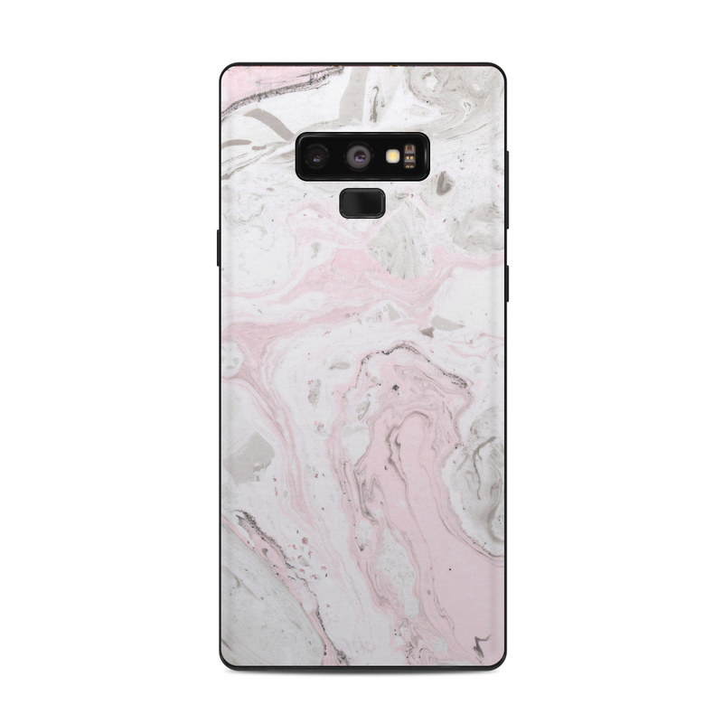 Samsung Galaxy Note 9 Skin design of White, Pink, Pattern, Illustration with pink, gray, white colors