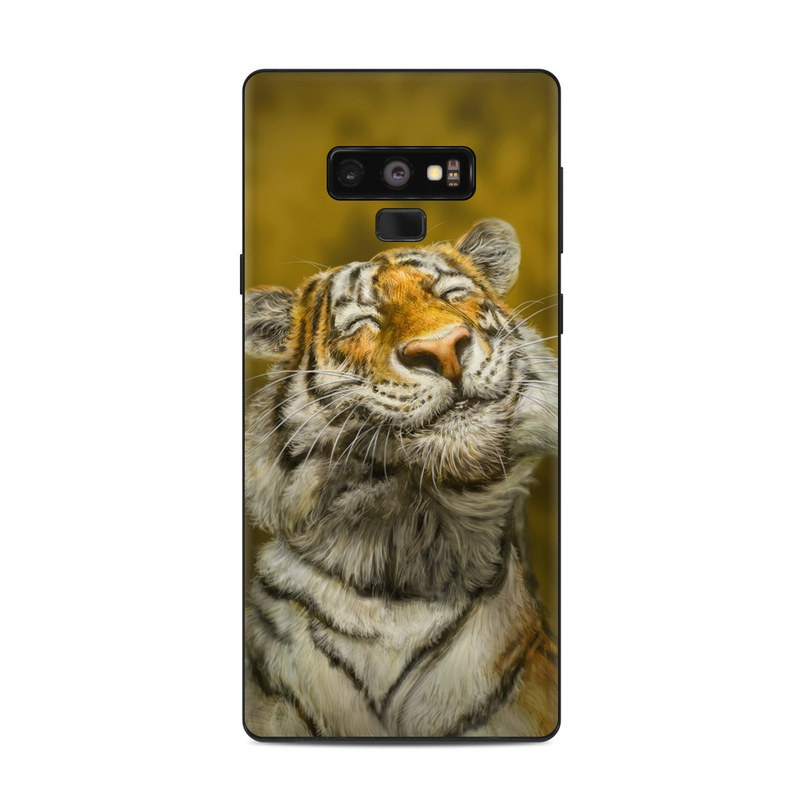 Samsung Galaxy Note 9 Skin design of Tiger, Vertebrate, Bengal tiger, Mammal, Wildlife, Siberian tiger, Terrestrial animal, Felidae, Snout, Whiskers with black, white, orange, yellow colors