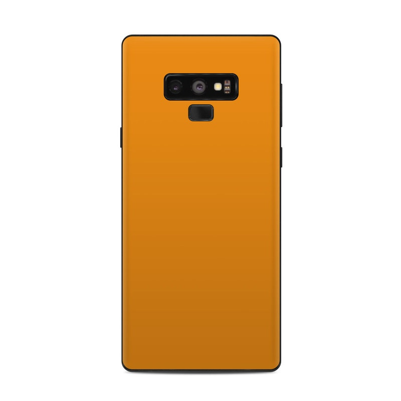 Samsung Galaxy Note 9 Skin design of Orange, Yellow, Brown, Text, Amber, Font, Peach with orange colors