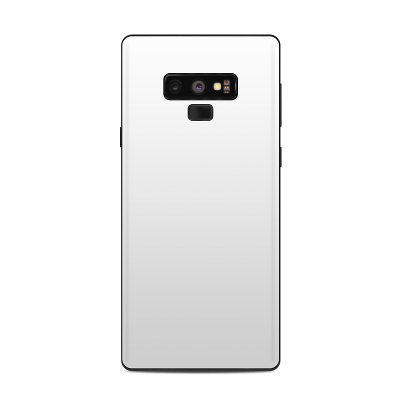 Samsung Galaxy Note 9 Skin design of White, Black, Line with white colors
