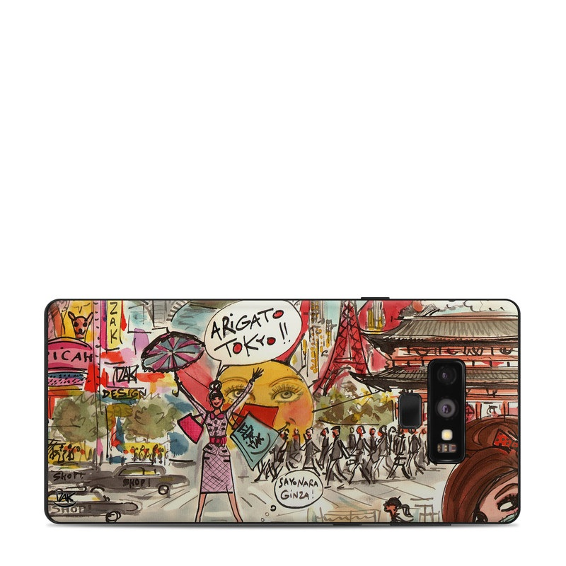 Samsung Galaxy Note 9 Skin design of Cartoon, Art, Illustration, Graphic design, Collage, Fiction, Fictional character, Comics, Visual arts, Photomontage with gray, black, red, green, pink, yellow colors