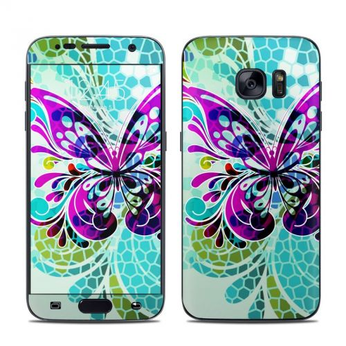 Butterfly Glass Galaxy S7 Skin
