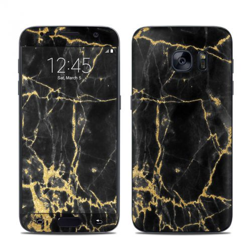 Black Gold Marble Galaxy S7 Skin