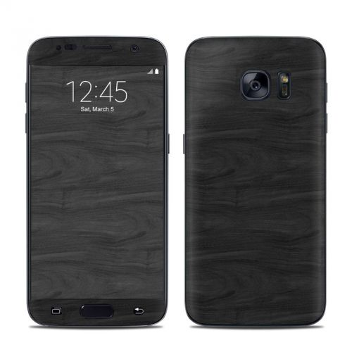 Black Woodgrain Galaxy S7 Skin