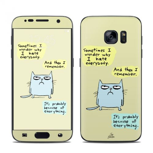 Catwad Hate Galaxy S7 Skin